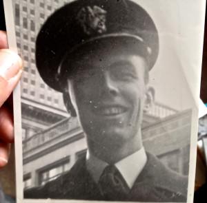 Freshly trained naval officer, New York City, 1943.