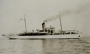 USS Lydonia, a survey vessel, skippered by Dad's father at the time of his birth. [Wikimedia Commons]