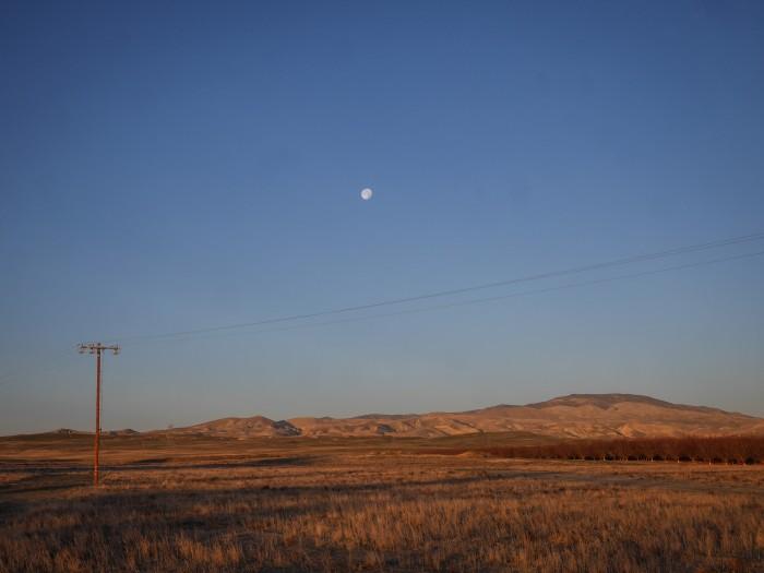 Moon over Coalinga, CA.
